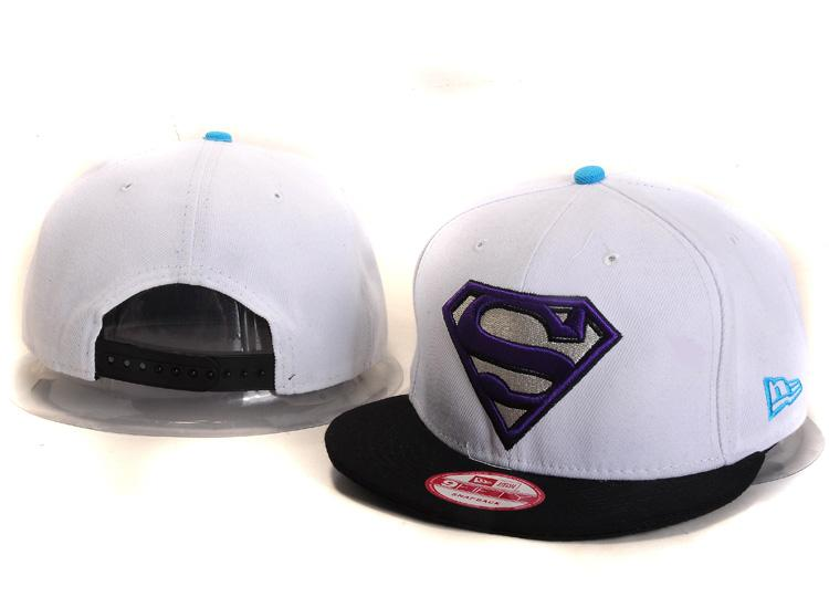 Super Man White Snapback Hat YS